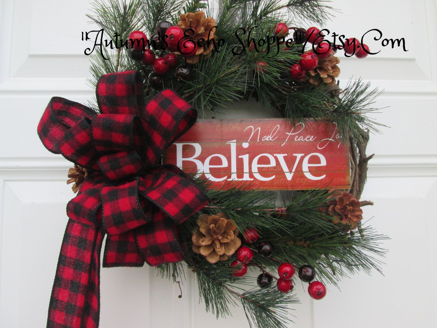 INSPIRATIONAL CHRISTMAS WREATHChristmas Decor Door Wreath