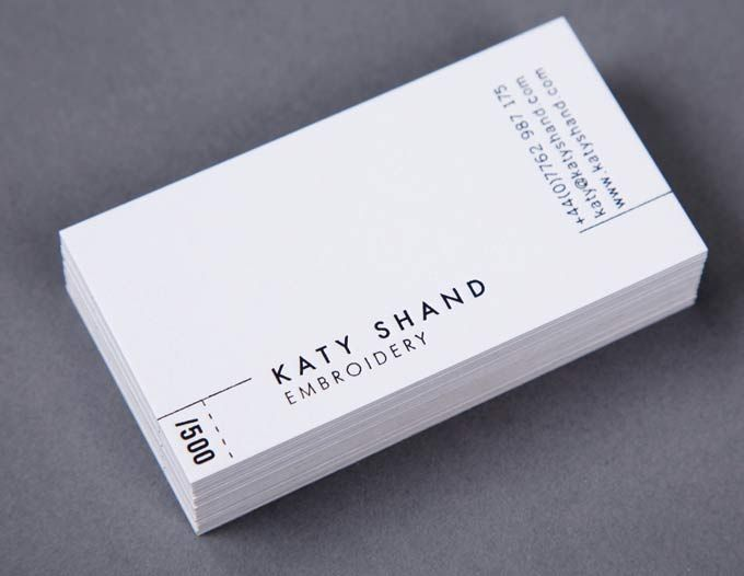 Katy shand embroidery business cards dean pannifer letterpress katy shand embroidery business cards dean pannifer letterpress with bespoke limited designs reheart Images