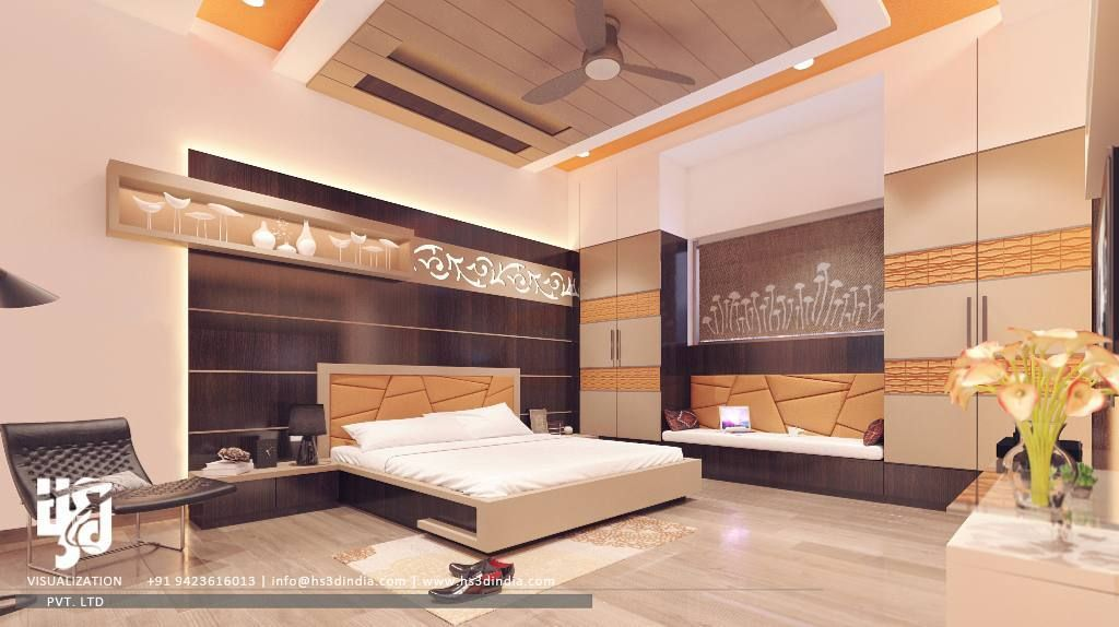 modernbedroom interiordesign 3drender view by wwwhs3dindiacom nirlepkaur_id