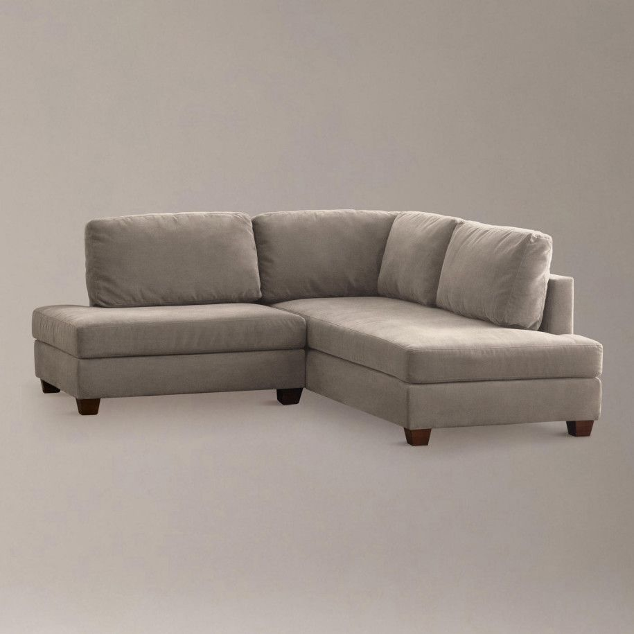 Design Small Space Sofas putty wyatt small sectional sofa close theres no place like spaces