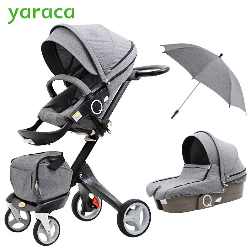 2 In 1baby Stroller High Landscape Folding Portable Baby Carriage For Newborns Luxury Prams For Children From 0 3 Years Coche Para Ninos Carritos De Bebe Ninos