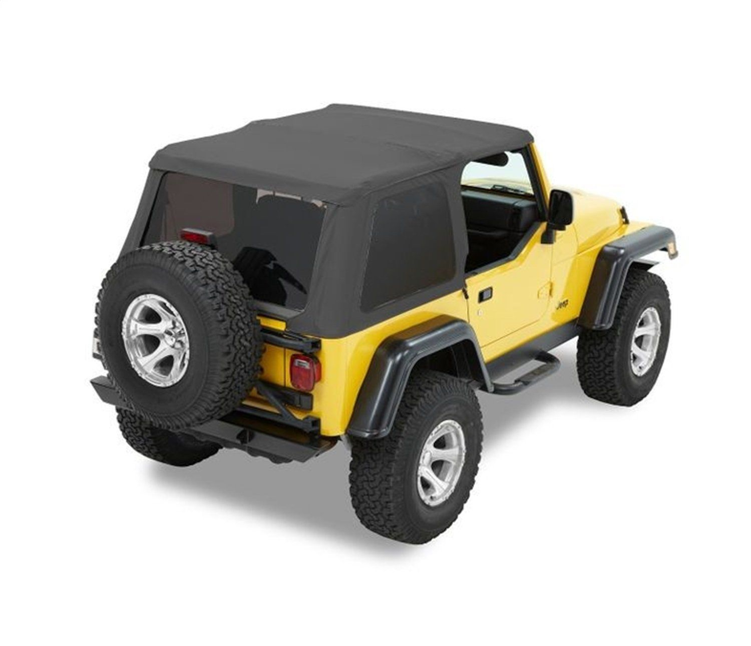 Amazon Com Bestop 56820 15 Black Denim Trektop Nx Complete Frameless Replacement Soft Top With Sunrider Sunroof Feature With Images Soft Tops Jeep Wrangler Tj Wrangler Tj