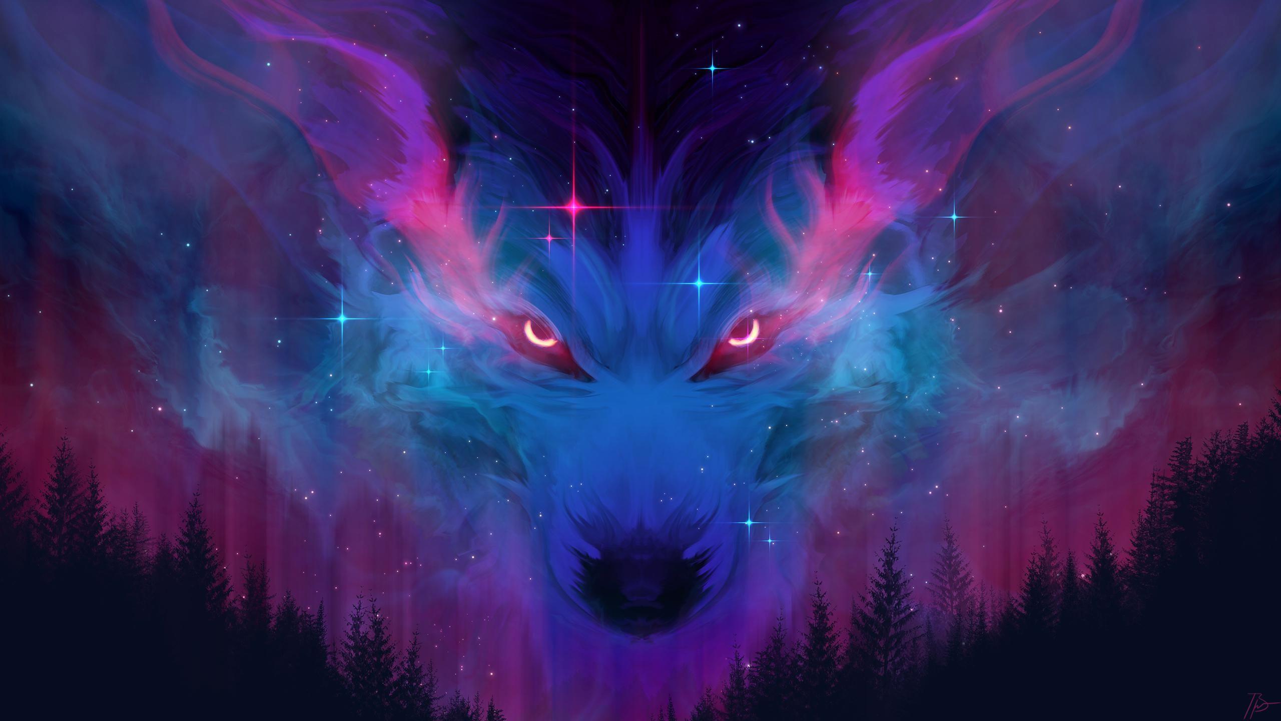 Cosmic Wolf Wolf Wallpaper Wolf Wallpapers Wolf Background