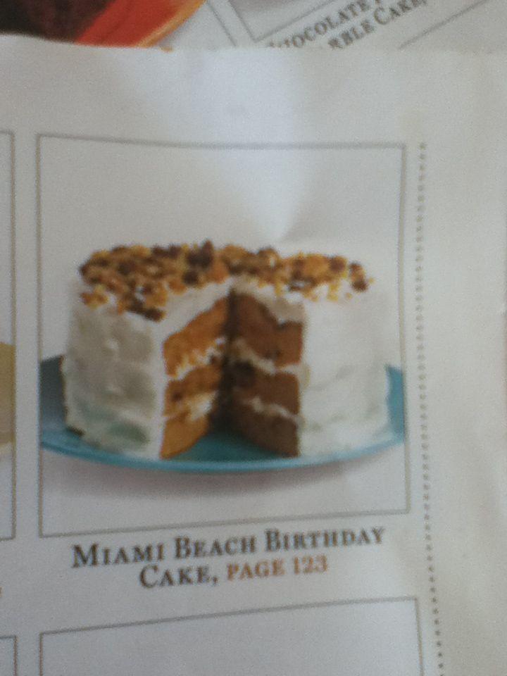 Miami Beach Birthday Cake CELEBRATE Cakes Pinterest Birthday