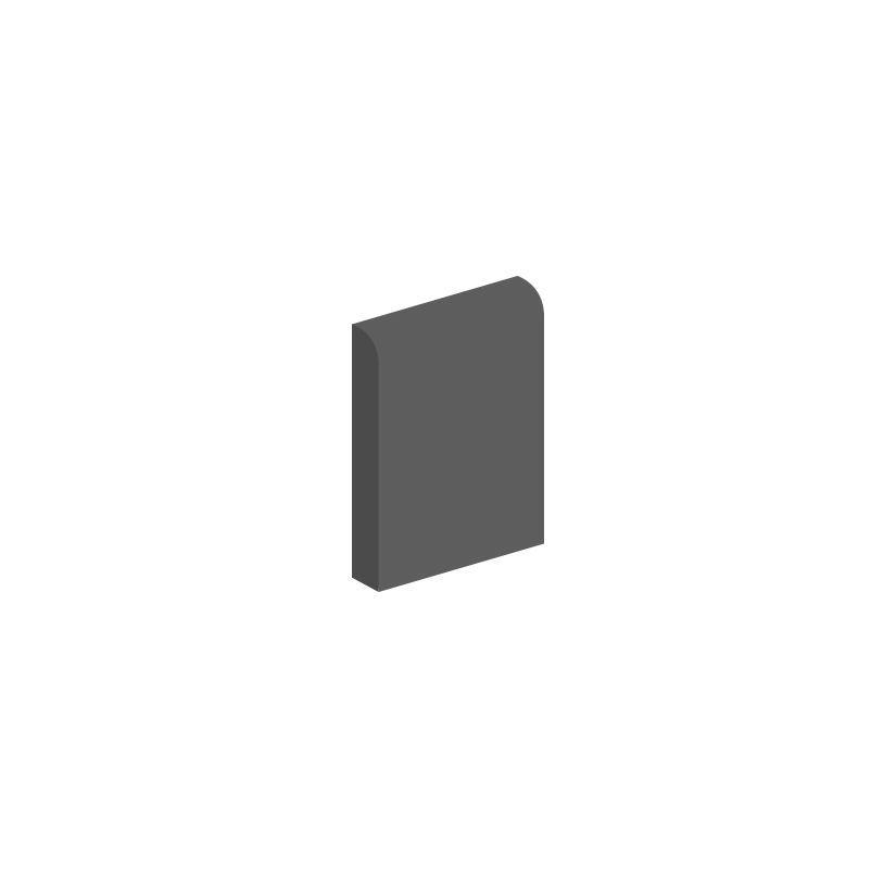"Daltile QH53-Q1665601A Natural Hues 6"" x 6"" Ceramic Abrasive Bullnose Multi-Surf Ginger Tile Accessories Tile Moldings Bullnose"