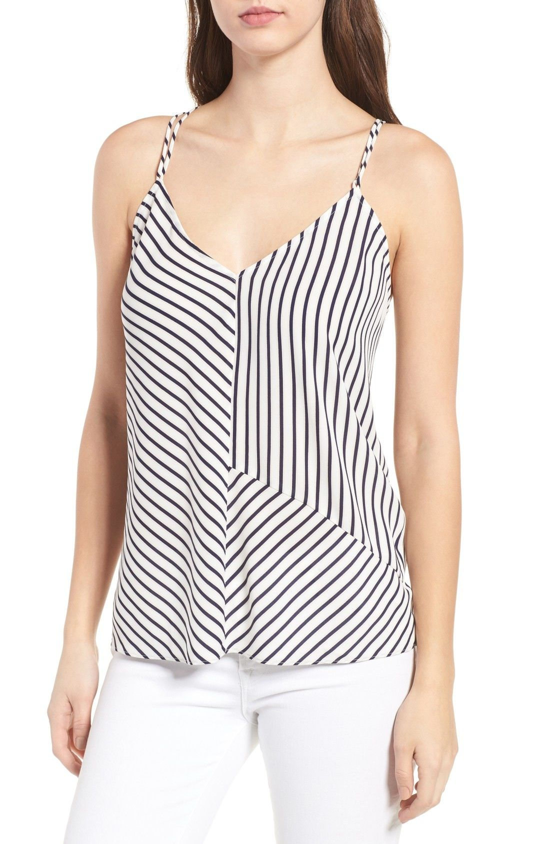Trouvé Mixed Stripe Tank