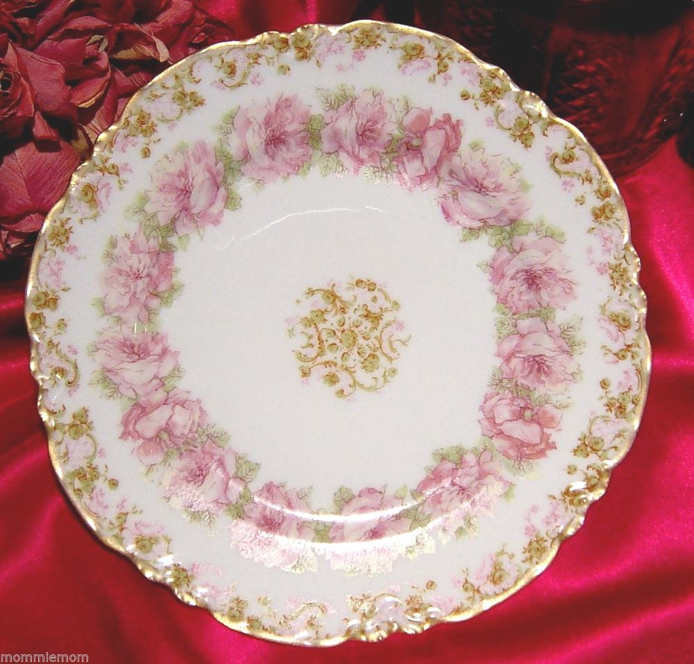 haviland limoges 55 pink cabbage roses drop rose variant stunning large plate liza 39 s beach. Black Bedroom Furniture Sets. Home Design Ideas