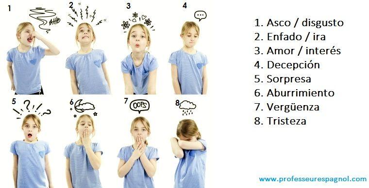 El vocabulario de las emociones en http://www.professeurespagnol.com/apprendre-lespagnol-en-ligne-las-emociones/
