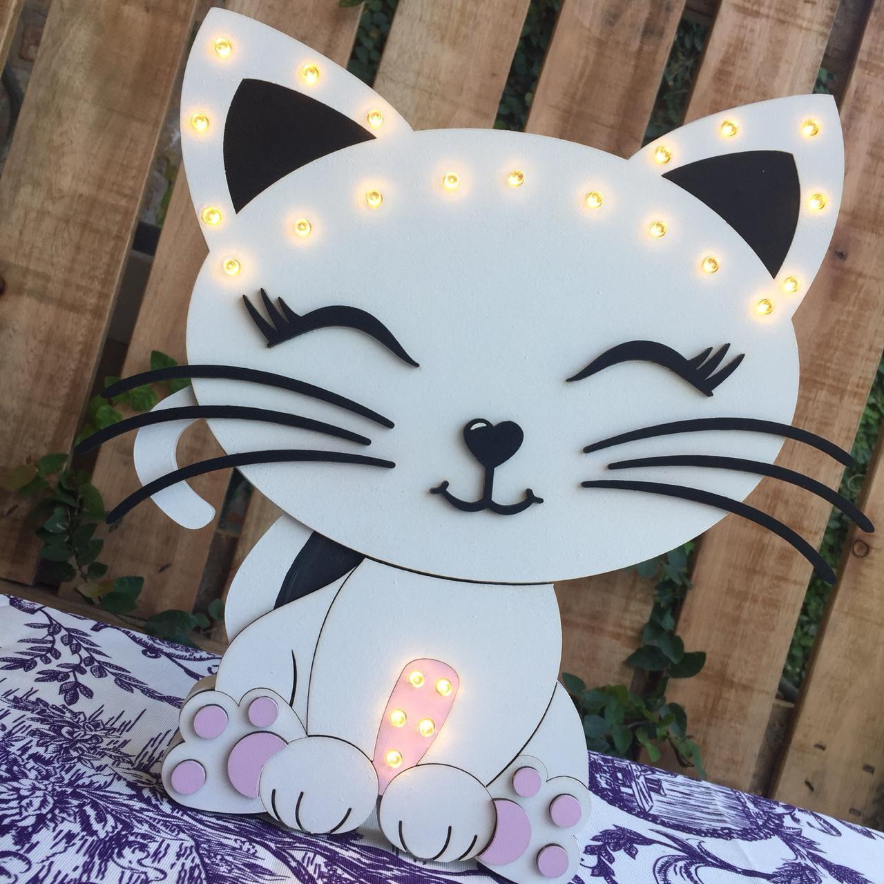 Gatita Luminosa Fiestas Temáticas De Gato Decoración De Gato Manualidades
