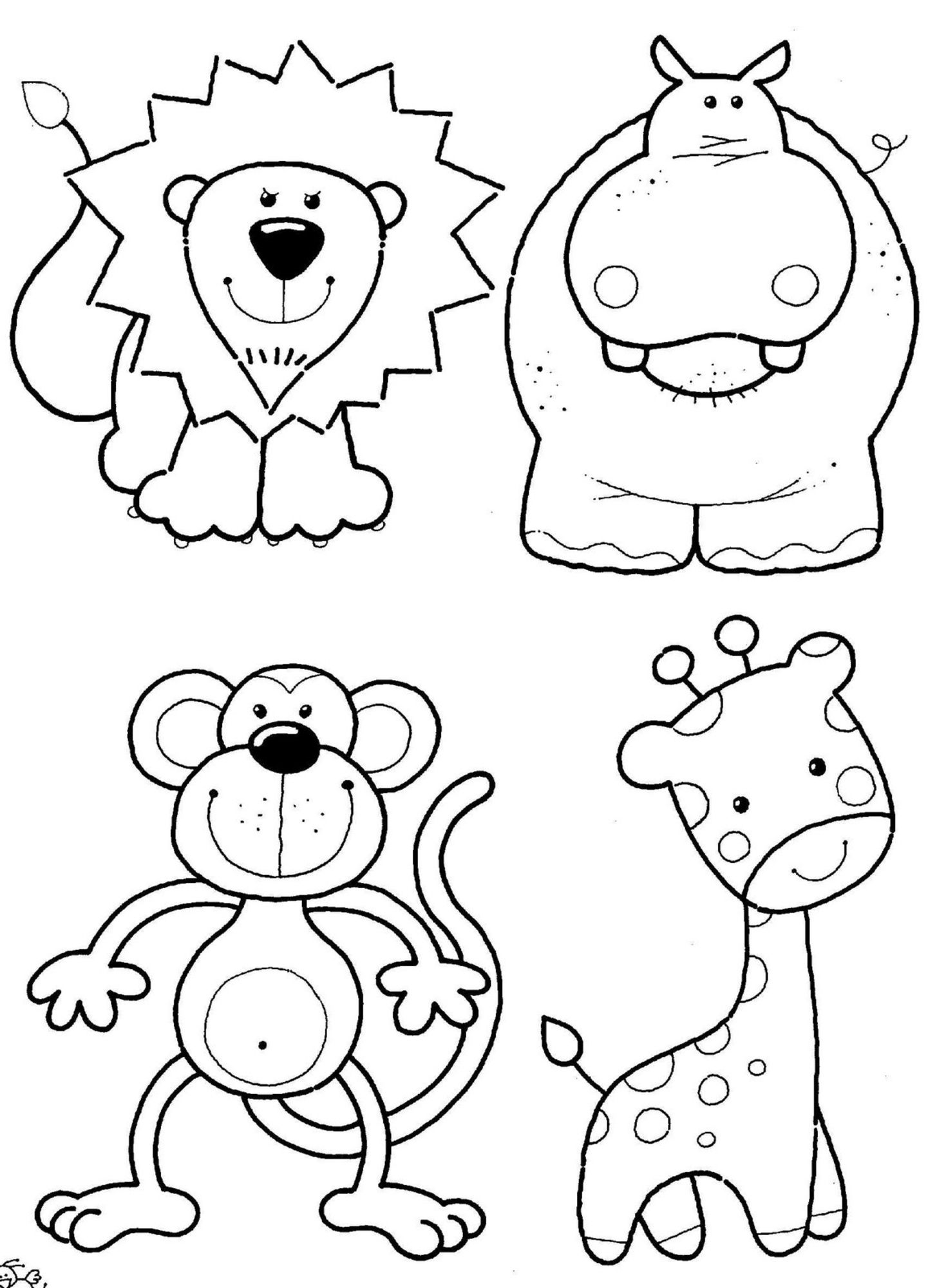 Zoo Animals Colouring