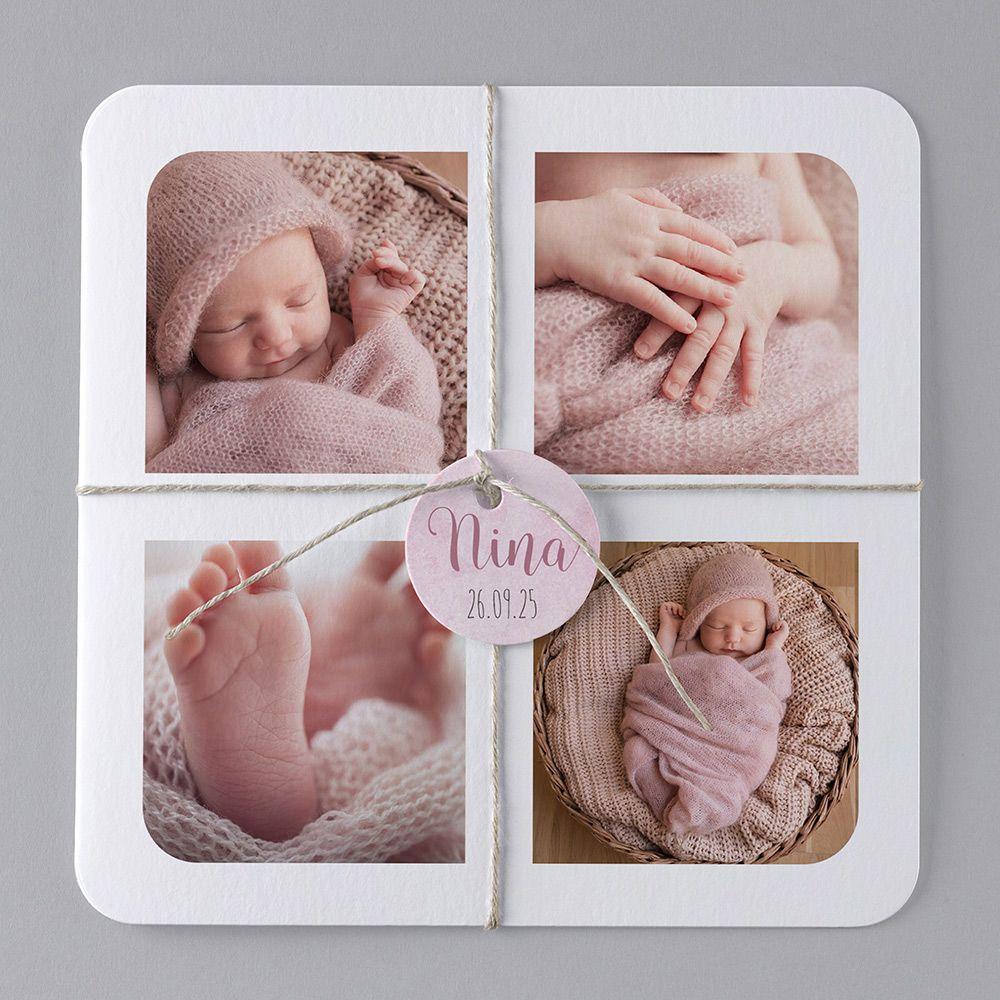 unsere babykarte nine verschickt liebe und sch ne geburtskarten geburt papeterie. Black Bedroom Furniture Sets. Home Design Ideas