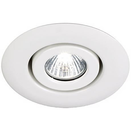 Juno 4 Low Voltage White Gimbal Recessed Light Trim 19444 Lamps Plus Recessed Lighting Recessed Light Trim Attic Lighting