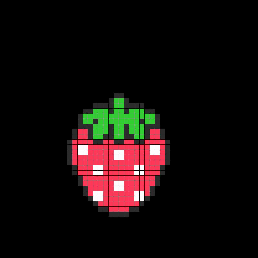 Image Detail for - Cute Strawberry Perler Bead Pattern Perler Bead ...