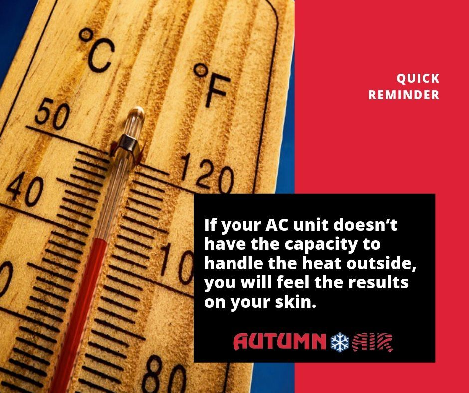 Quick reminder! If your AC unit doesn't have the capacity