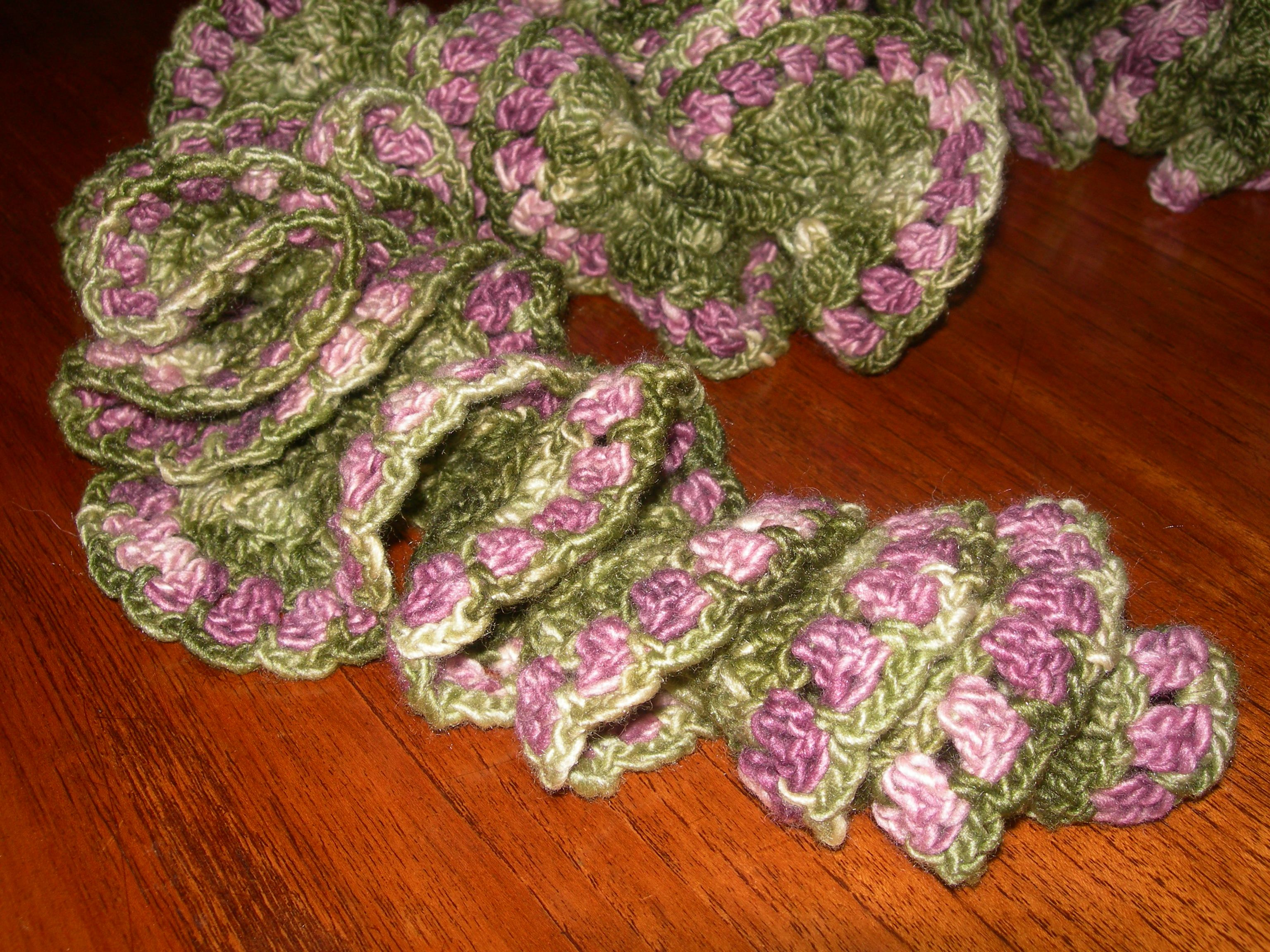 Foxglove Crochet Spiral Scarf Pattern | crochet | Crochet ...