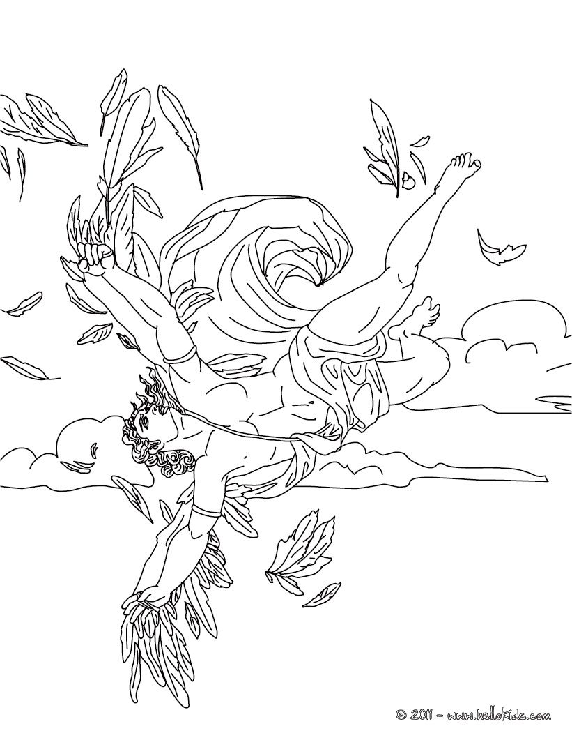 GREEK MYTHS AND HEROES coloring pages - MYTH OF ICARUS | Colorin ...