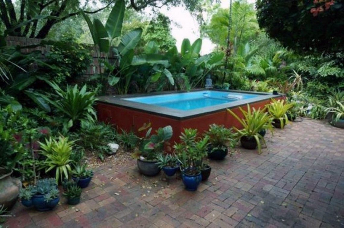 Delightful custom pools for small yards 4 potted plants - Above ground pools for small backyards ...