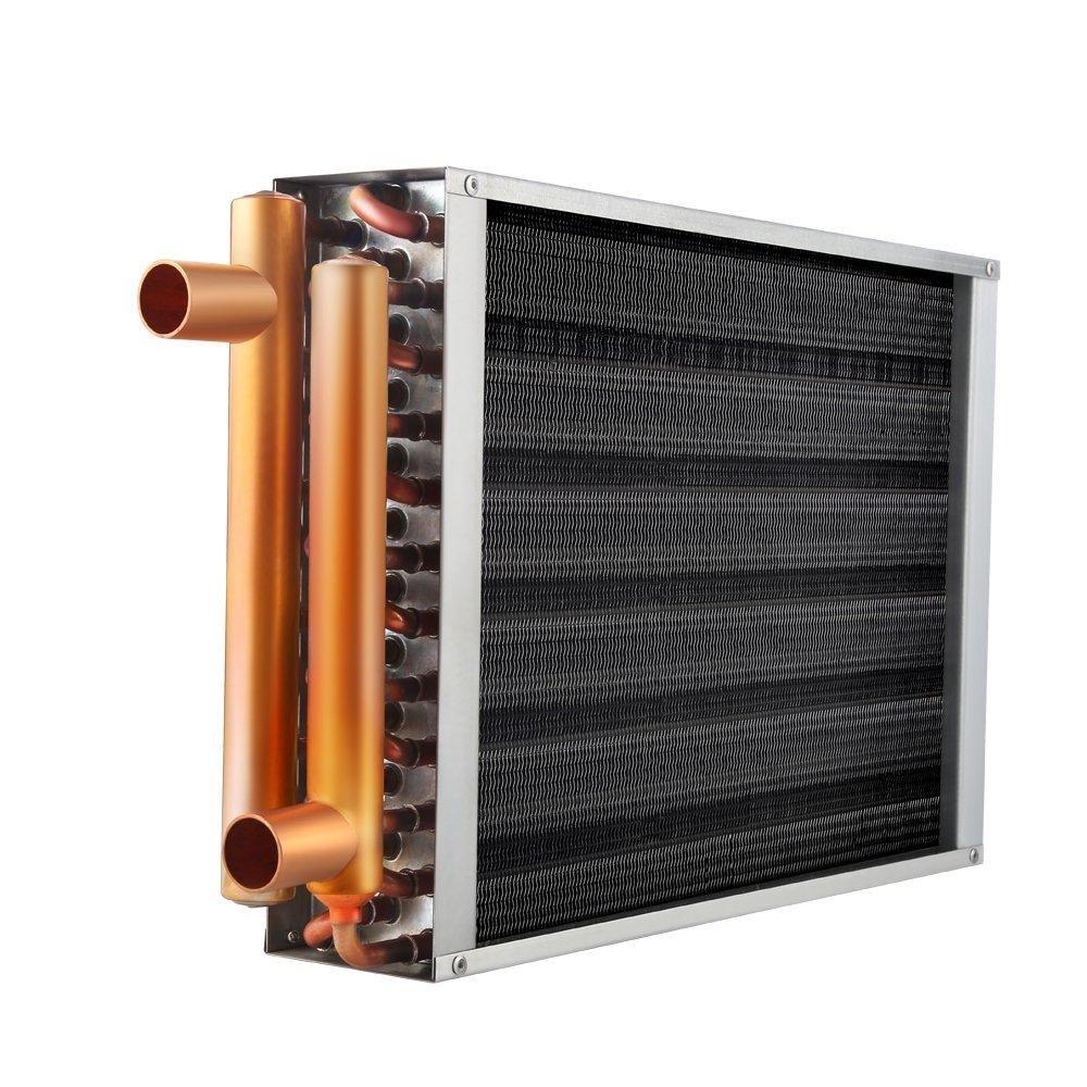 "Air to Water Heat Exchanger 12x12 1"" Copper Ports Heat"