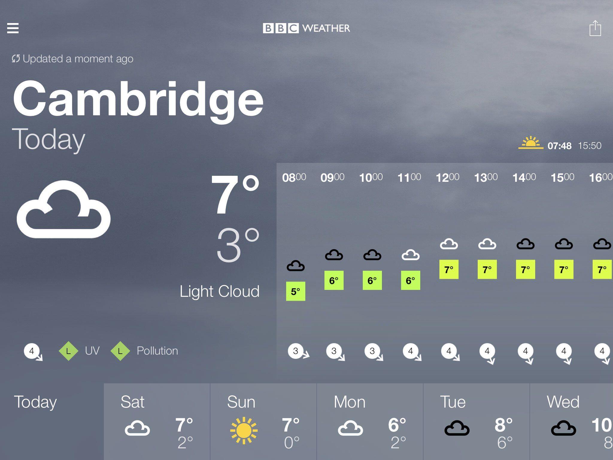 BBC Weather forecast for Cambridge, Cambridgeshire. Today: Light ...