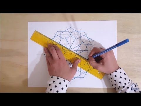 How To Draw Geometric Design Full Tutorial Youtube Geometric Patterns Drawing Geometric Drawing Islamic Patterns