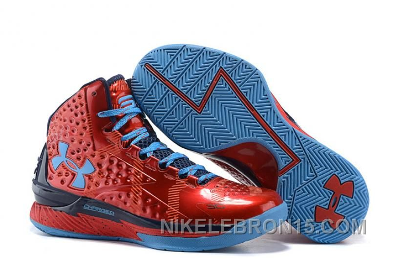 Under Armour UA Curry One PE Red Blue Shoes For Sale Top Deals