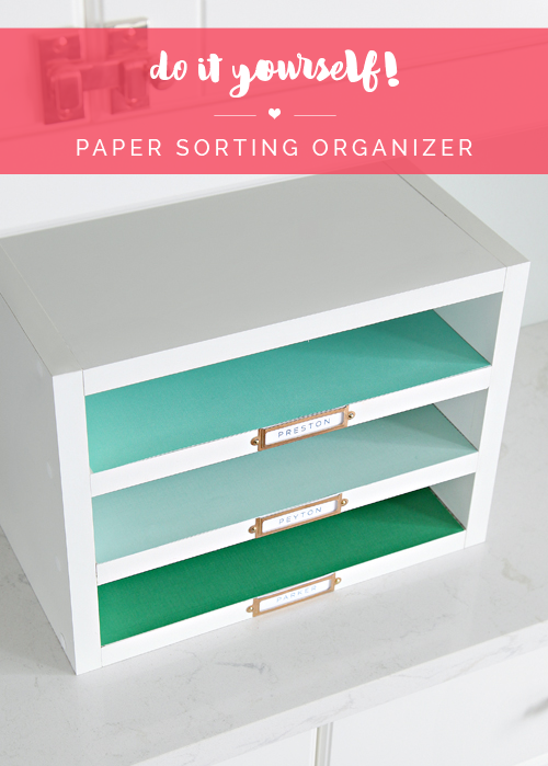 Do It Yourself Paper Sorting Organizer Desk Organization Diy Diy Office Organization Tray Organization