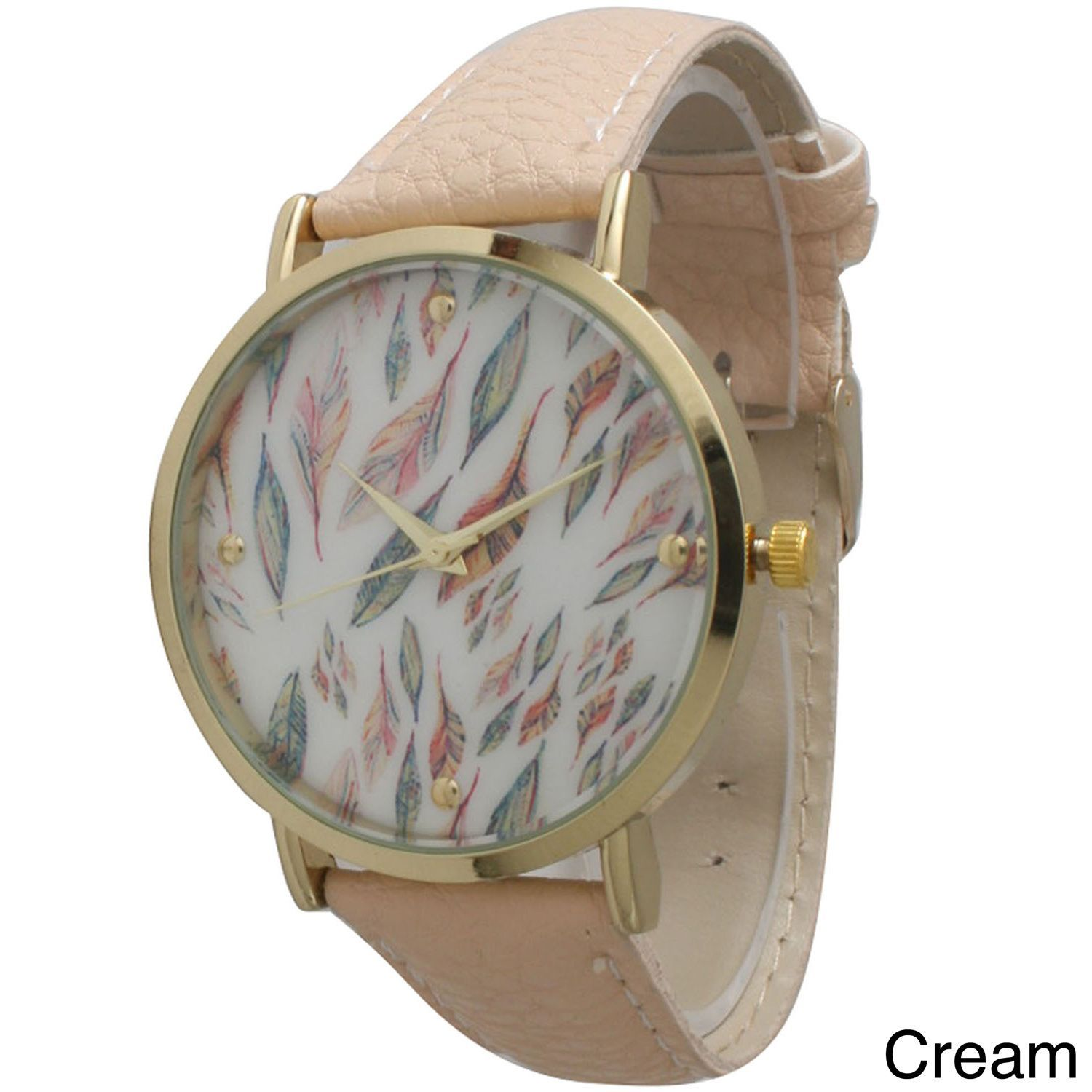 Geneva Olivia Pratt Women's Feather Watch