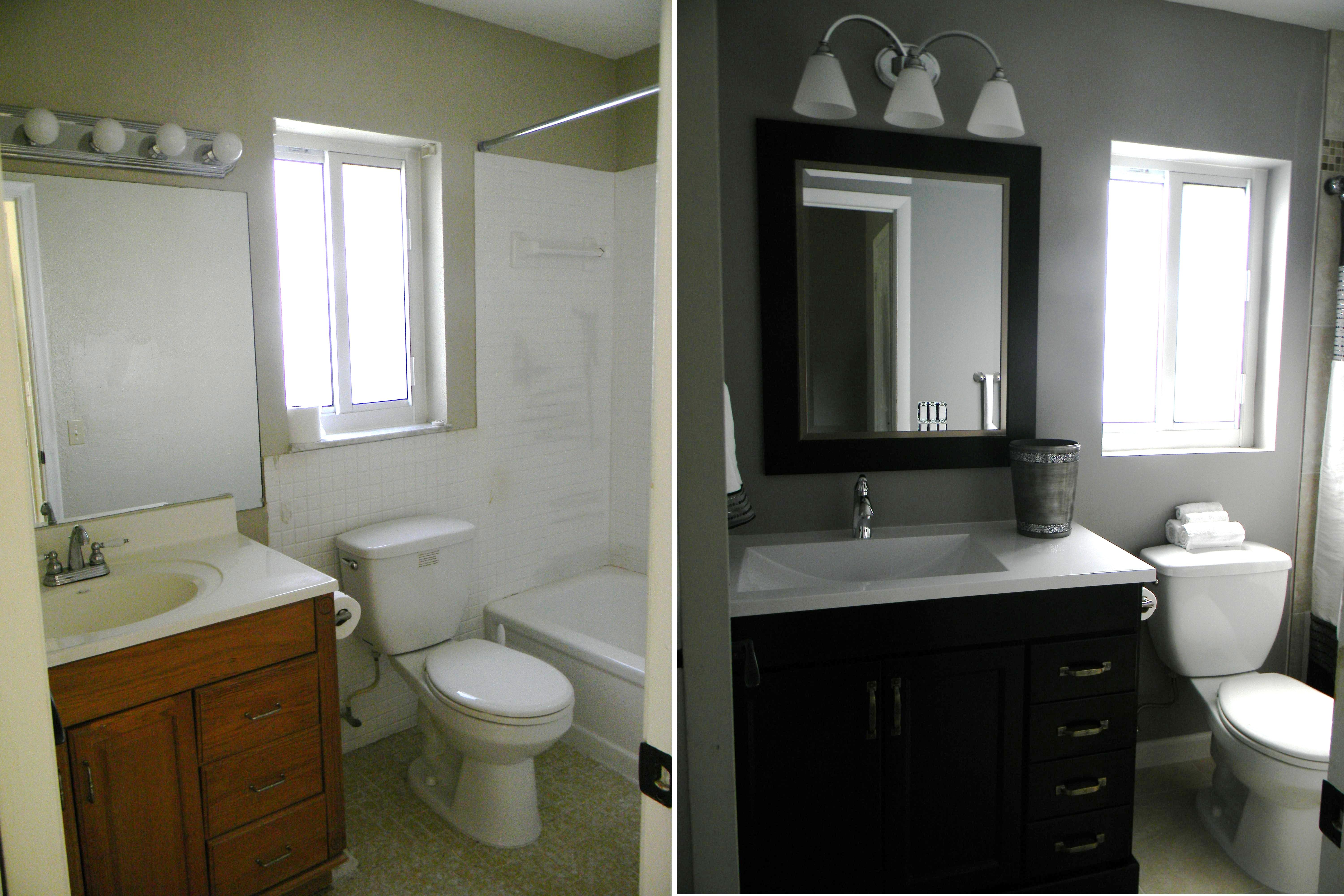 My Small Bathroom Renovation Under Budget And Ahead Of Schedule Cheap Bathroom Remodel Simple Bathroom Remodel Inexpensive Bathroom Remodel