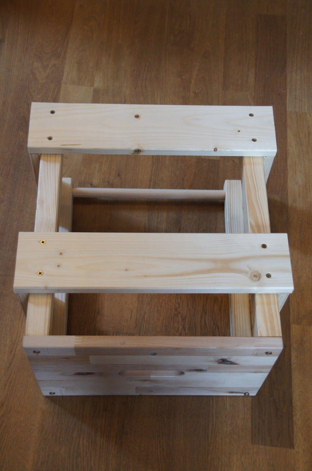 gl cksfl gel bauanleitung f r einen learning tower lernturm aus ikea hocker bekv m bekv m. Black Bedroom Furniture Sets. Home Design Ideas