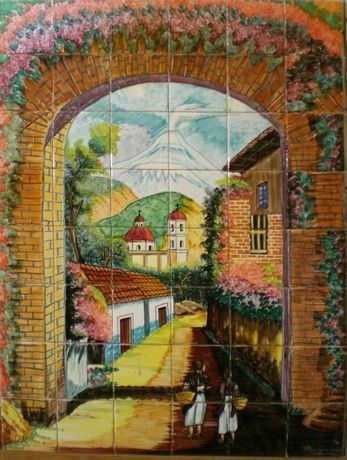 Kitchen Tile Mural Beautiful Mexican Culture I Am Tile