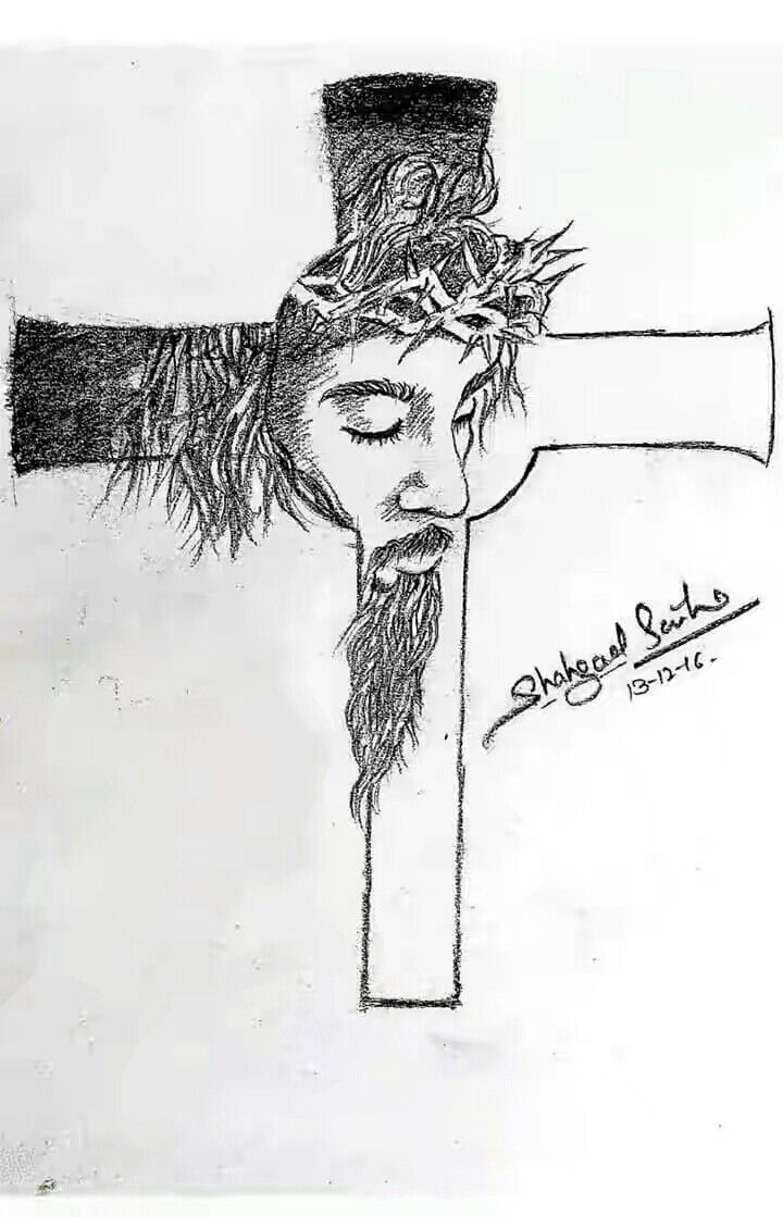 Sketch jesus cross jesus sketch jesus on the cross s tattoo cool sketches