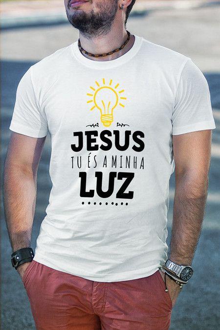 02d7333058d61 Camiseta Jesus é minha Luz