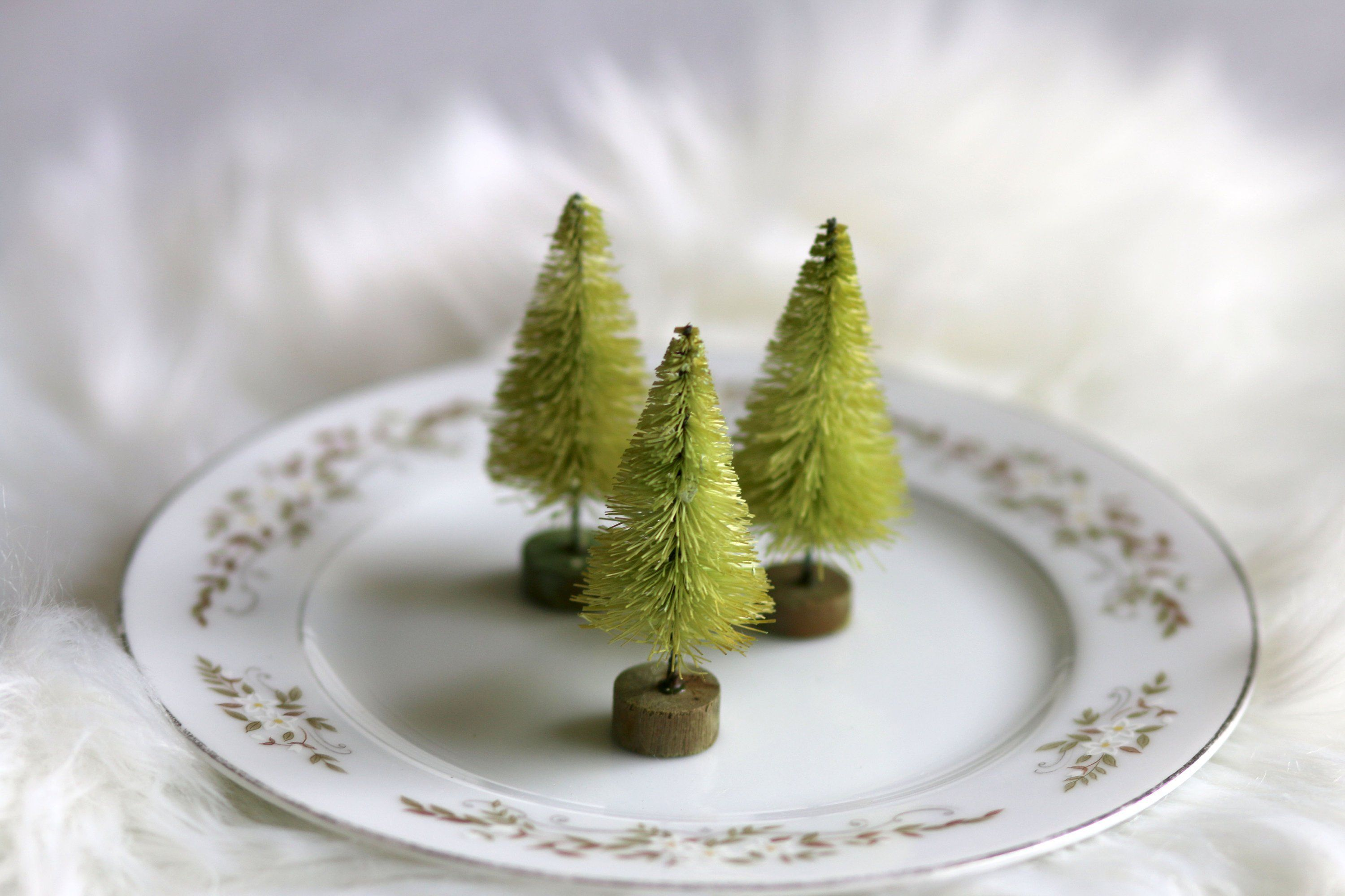 Lime Bottle Brush Trees Set Of 3 Darling Small 2 5 Inch Trees For Christmas Village Dioramas Diy Snow With Images Diy Christmas Tree Christmas Tree Village Christmas Diy