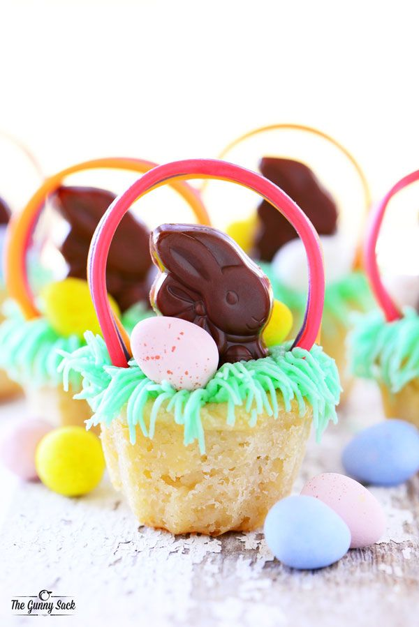 Easter basket cookie cups recipe designers favorite projects these adorable easter basket cookie cups are almost too fun to eat an easter dessert recipe filled with buttercream frosting chocolate bunnies and eggs negle Choice Image