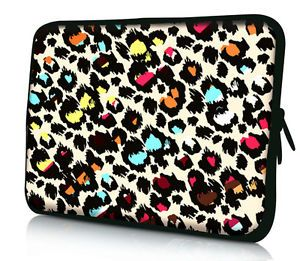 "12"" Leopard Laptop Netbook Sleeve Bag Case For 11.6"" ASUS VivoBook X202E Tab"