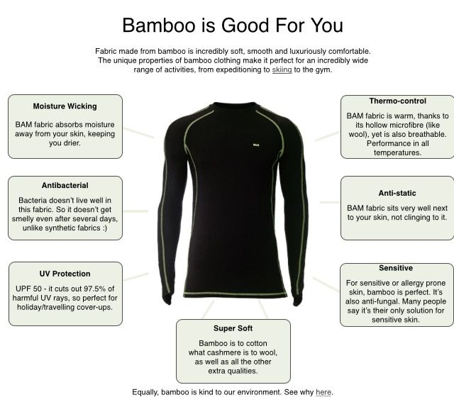 dd49ae3cc1 This is a sportswear top made from bamboo. Bamboo fabric has a good  reputation from the benefit to both human and earth in the clothing  industry.