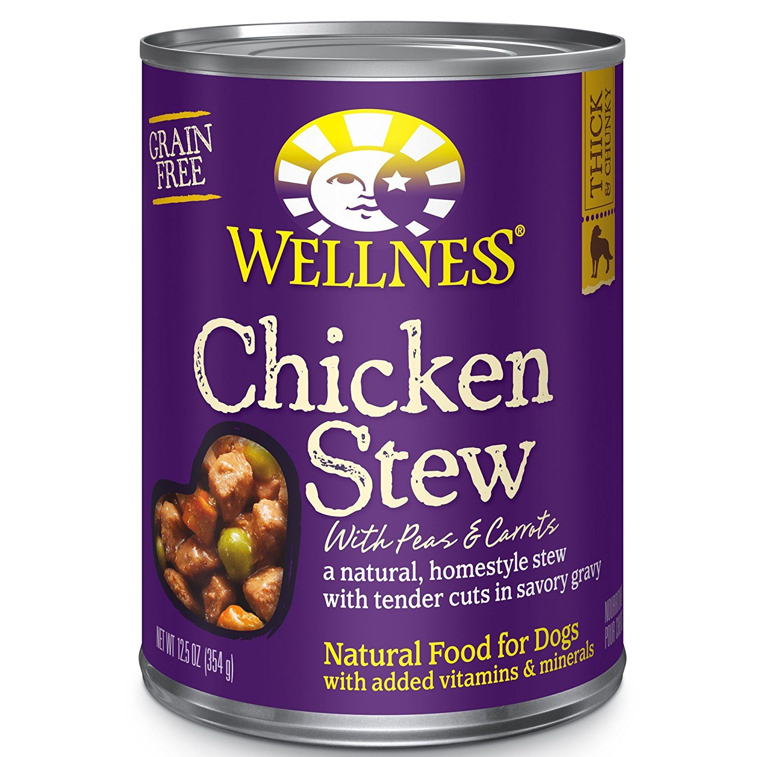 Wellness Thick and Chunky Natural Wet Grain Free Canned
