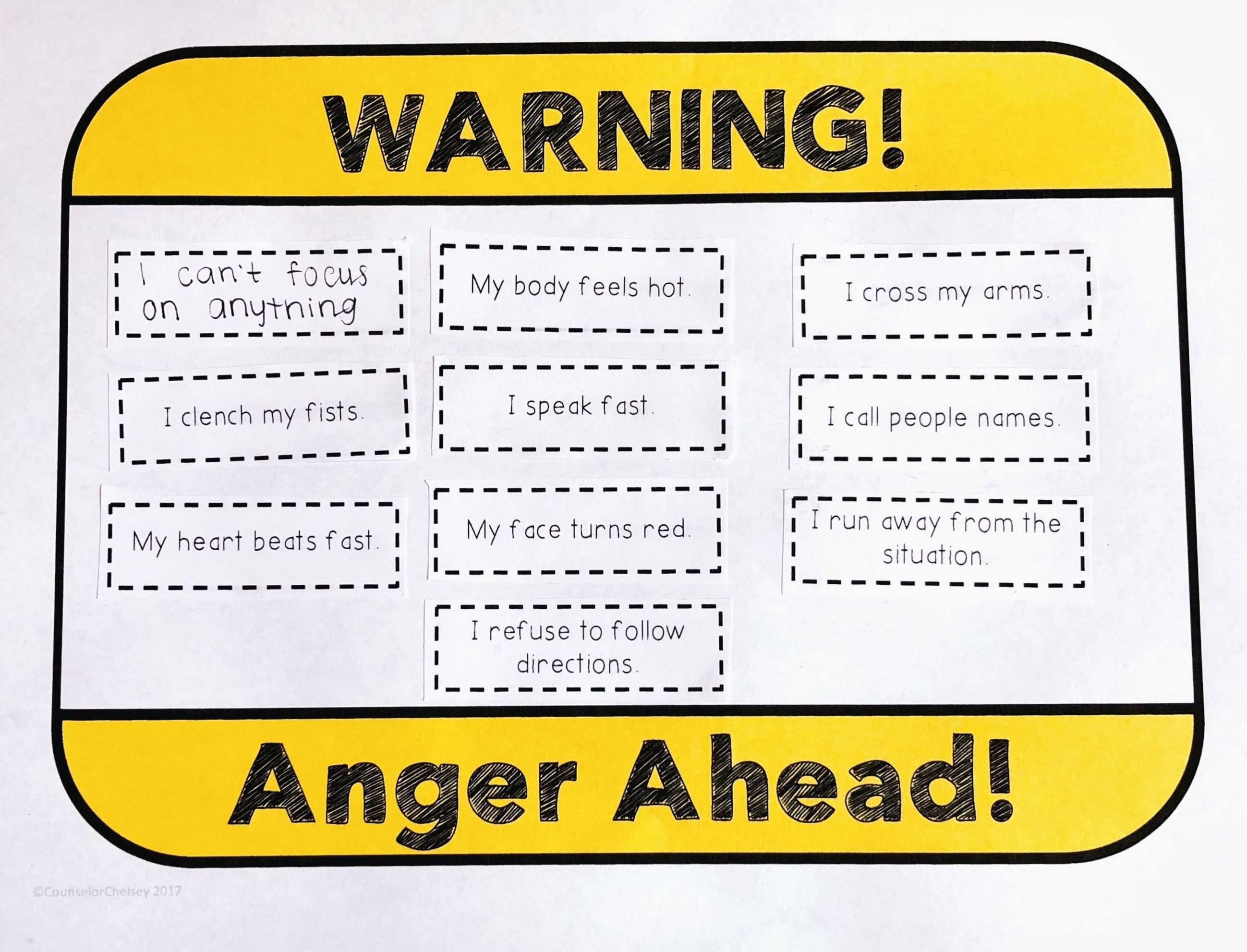 Anger Warning Signs