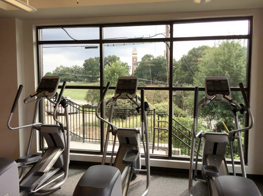 Gym With A View At Campusview Clemsonview Clemson Solidorange Campus Views Apartment