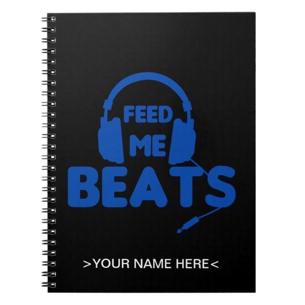 Feed Me Beats - Custom Made Hip Hop Rhyme Notebook ...