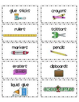 Supply Bin Labels | Classroom Organization | Classroom