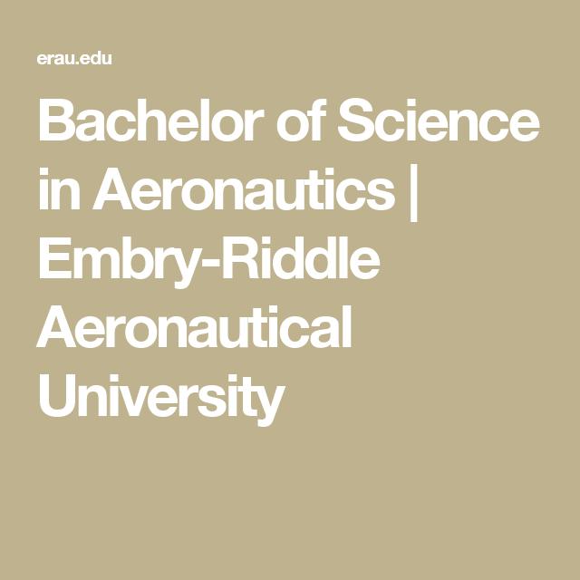 Bachelor of Science in Aeronautics | Embry-Riddle Aeronautical University