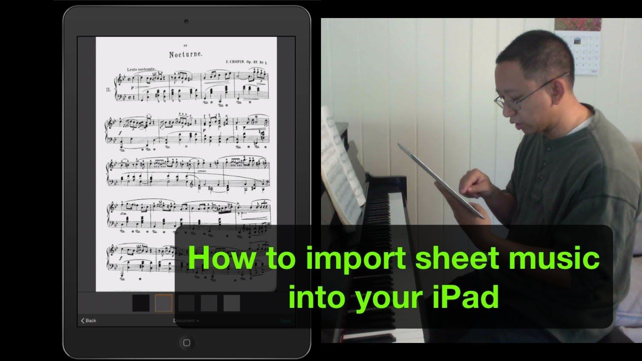 How To Import Sheet Music To Your Ipad Music Lessons Music Teaching Resources Teaching Music Sheet music reading app for ipad