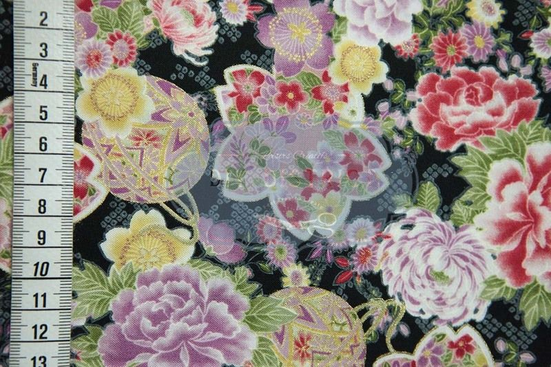 Stoff japanische Motive - Japanische Blumenmuster Stoff. - ein Designerstück von DIY-District bei DaWanda