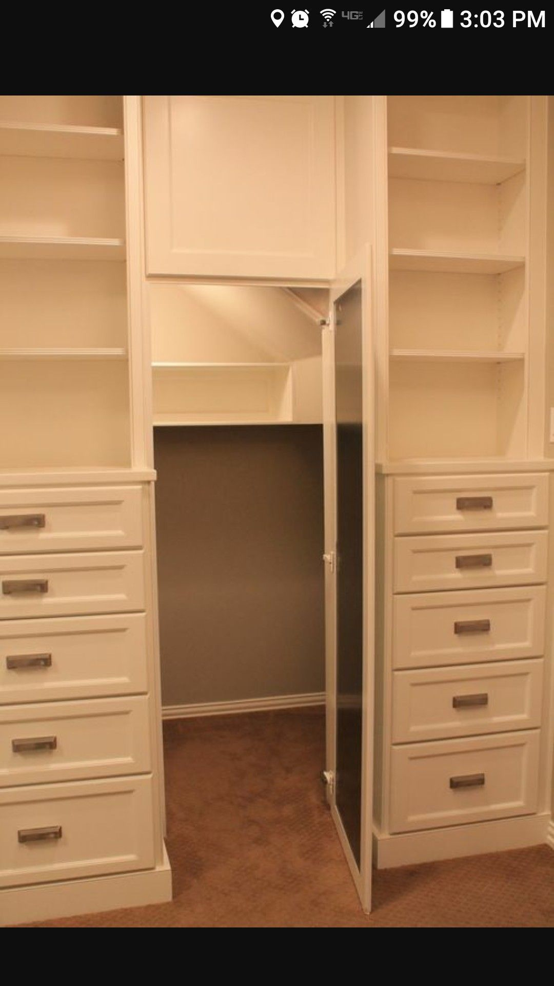 Secret compartment in closet good idea especially of u have a small