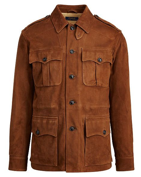 Suede Safari Jacket Polo Ralph Lauren Leather & Suede