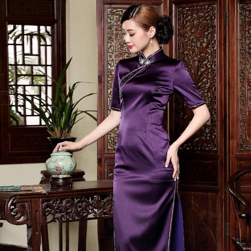 Long cheongsam dress malaysia