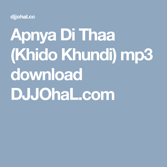shada punjabi song download djjohal