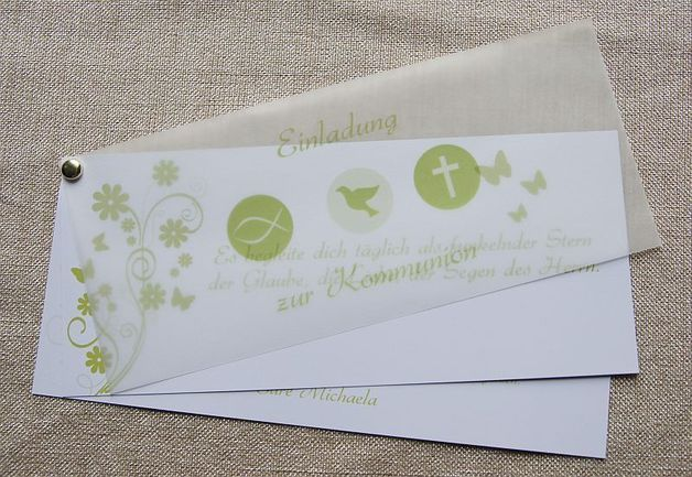 ♥ einladungskarte kommunion einladung danksagung | sms nachrichten, Einladung