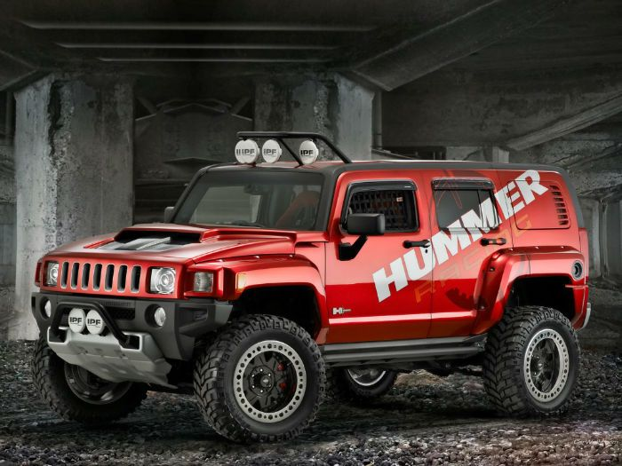 2018 Hummer H3 Red